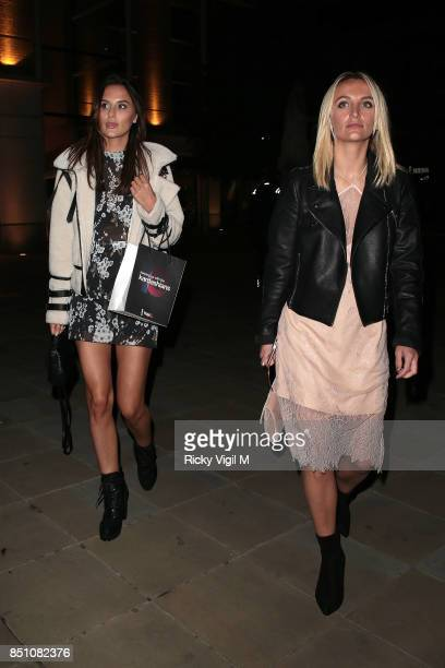 Lucy Watson and Tiffany Watson seen attending Keeping up with the Kardashians 10th Anniversary special screening / party at Saatchi Gallery on...