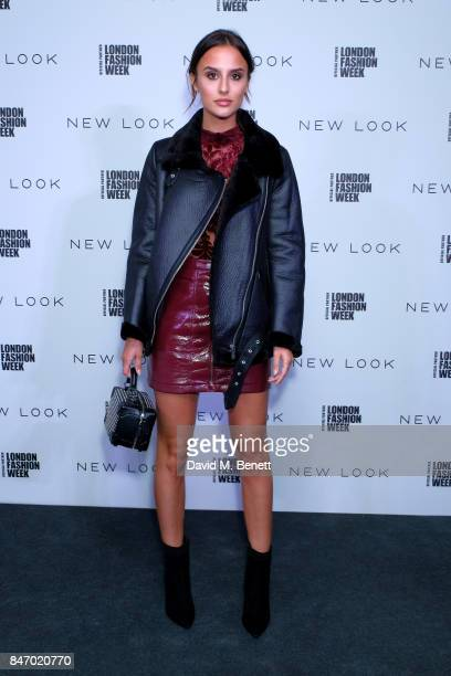 Lucy Watson attends the exclusive New Look and British Fashion Council party launching London Fashion Week September 2017 at The Store Studios on...