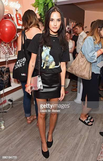 Lucy Watson attends the launch of the Skinnydip x CocaCola collection at the Skinnydip Neal Street store on August 16 2016 in London England