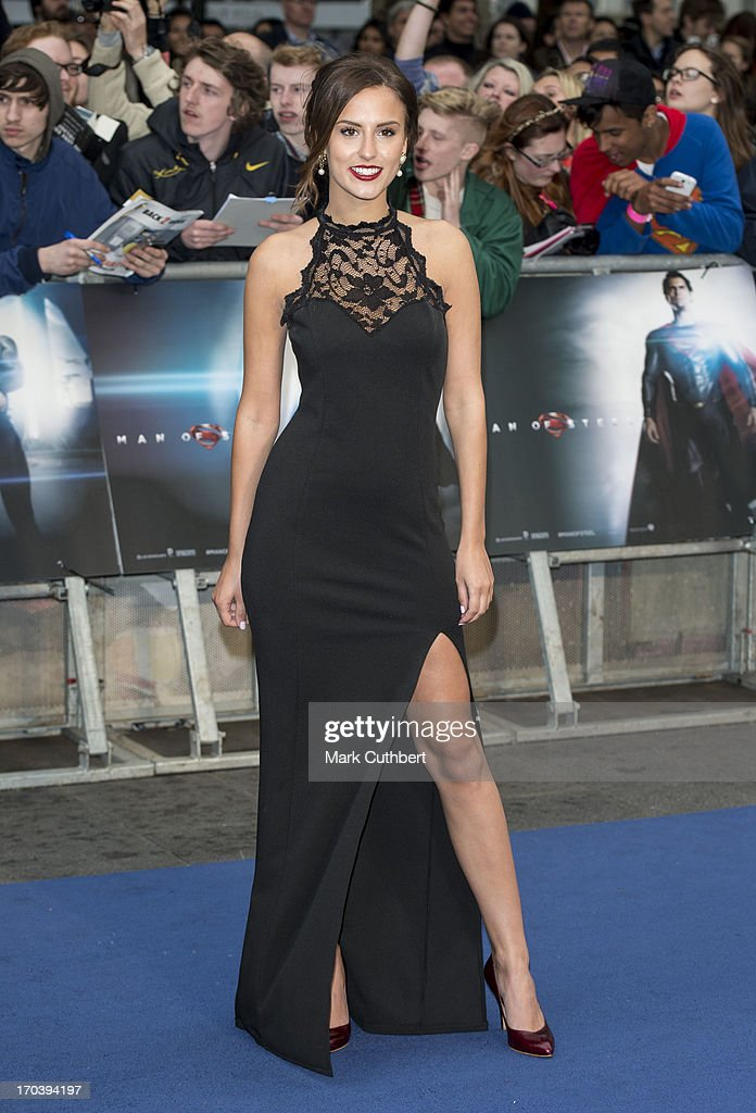 Lucy Watson attends the UK Premiere of 'Man of Steel' at Odeon Leicester Square on June 12, 2013 in London, England.