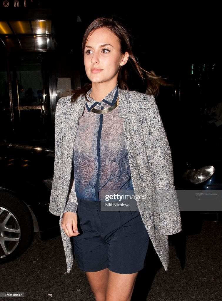 <a gi-track='captionPersonalityLinkClicked' href=/galleries/search?phrase=Lucy+Watson&family=editorial&specificpeople=10044172 ng-click='$event.stopPropagation()'>Lucy Watson</a> is seen leaving Cecconi restaurant, Mayfair on March 19, 2014 in London, England.