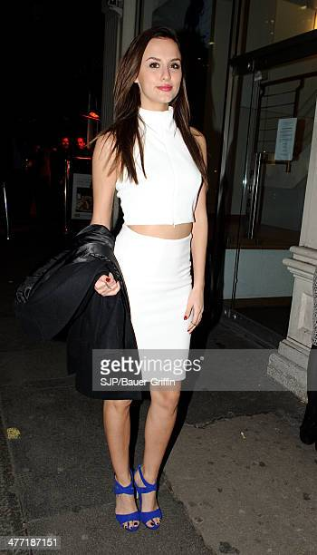 Lucy Watson is seen on February 28 2014 in London United Kingdom