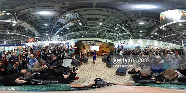 Lucy Watson opens the London Boat Show at ExCel on January 8 2016 in London England The London Boat Show is running from the 8th17th of January 2016...
