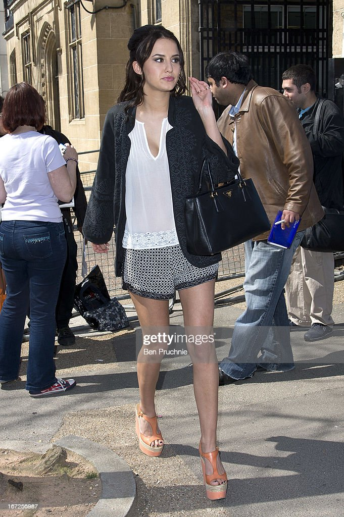 Lucy Watson sighted departing ITV Studios on April 23, 2013 in London, England.