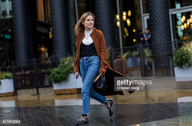 Lucy Williams seen outside Emilia Wickstaed during London Fashion Week Autumn/Winter 2016/17 on February 20 2016 in London England