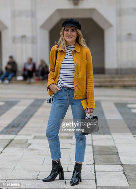 Lucy Williams seen outside Mulberry during London Fashion Week Autumn/Winter 2016/17 on February 21 2016 in London England