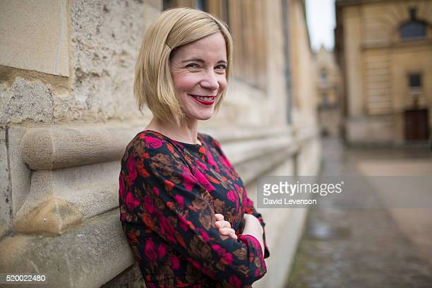 Lucy Worsley historian and television presenter photographed at the FT Weekend Oxford Literary Festival on April 9 2016 in Oxford England