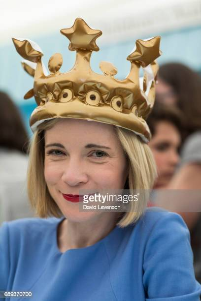 Lucy Worsley historian and TV presenterat the Hay Festival on May 28 2017 in Hay on Wye United Kingdom