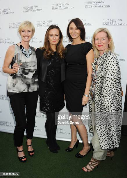 Lucy Yeomans and Caroline Rush attend the BFC/Bazaar Fashion Arts Foundation launch party at Shoreditch House on September 9 2010 in London England