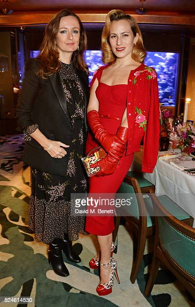 Lucy Yeomans and Charlotte Dellal attend the launch of the new Venyx Oseanyx collection hosted by Eugenie Niarchos and Lucy Yeomans at Sexy Fish on...