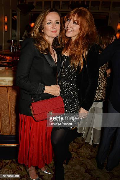 Lucy Yeomans and Charlotte Tilbury attend the launch of the Kate Moss For Equipment x NETAPORTER collection at The Chiltern Firehouse on June 1 2016...