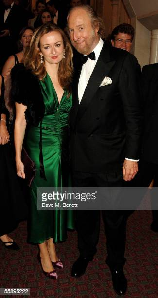 Lucy Yeomans and Ed Victor arrive for the Man Booker Prize literary awards at the Guildhall October 10 2005 in London England Shortlisted novels for...