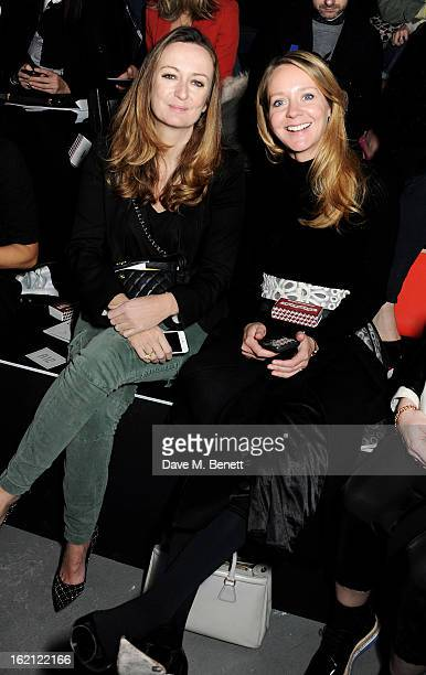 Lucy Yeomans and Kate Reardon attend the Anya Hindmarch Autumn/Winter 2013 presentation during London Fashion Week at P3 on February 19 2013 in...