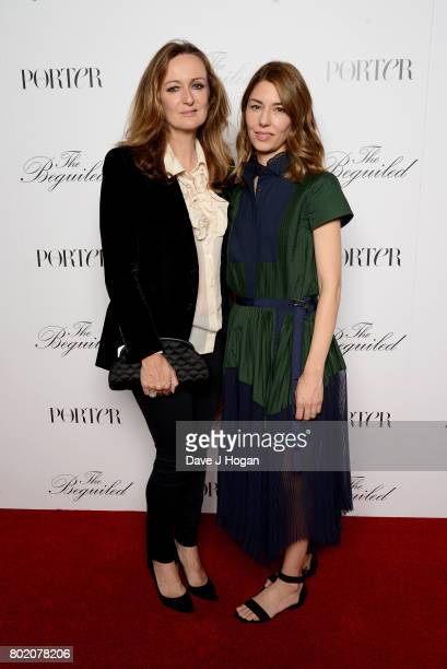 Lucy Yeomans and Sofia Coppola attend the screening of 'The Beguiled' at Picturehouse Central on June 27 2017 in London England