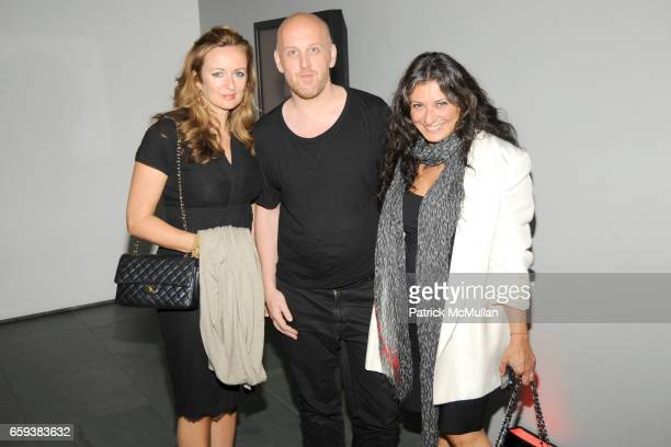 Lucy Yeomans Antony Miles and Sophia Neophitou attend LINDA EVANGELISTA NOTIFY Party to Celebrate RON ARAD at MoMA at The Modern Museum of Art on...