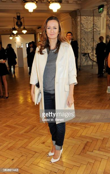Lucy Yeomans attends the Anya Hindmarch presentation during London Fashion Week SS14 at Central Hall Westminster on September 17 2013 in London...