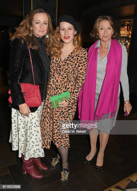 Lucy Yeomans Charlotte Dellal and Cherie Lunghi attend the Women for Women International's #SheInspiresMe lunch at Quaglino's on November 16 2017 in...