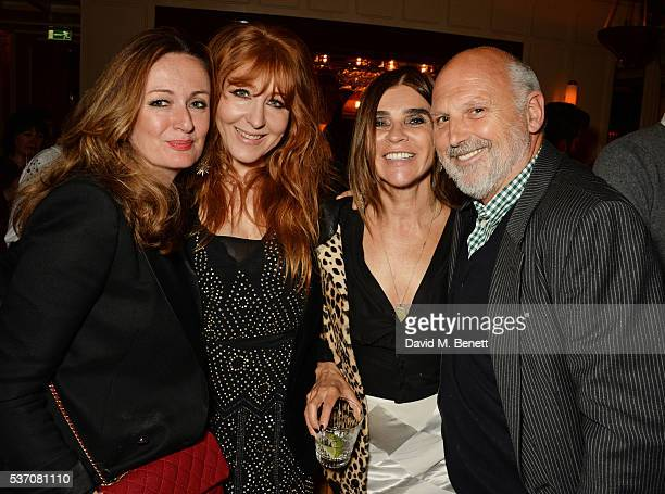 Lucy Yeomans Charlotte Tilbury Carine Roitfeld and Sam McKnight attend the launch of the Kate Moss For Equipment x NETAPORTER collection at The...