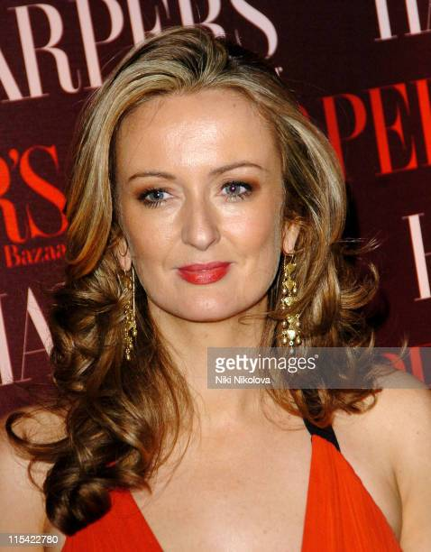 Lucy Yeomans editor of Harper Bazaar during Harper's Bazaar Celebrates the First Issue of British Bazaar Arrivals at Cirque Leicester Square in...