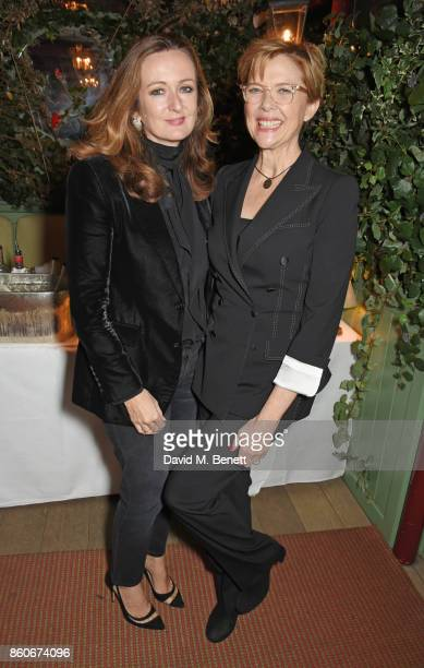 Lucy Yeomans EditorinChief of PORTER magazine and Annette Bening attend the PORTER Lionsgate UK after party for 'Film Stars Don't Die In Liverpool'...