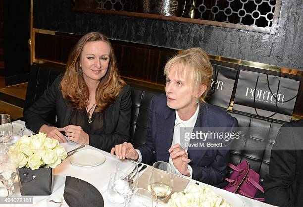 Lucy Yeomans EditorinChief of PORTER magazine and author Siri Hustvedt attend a private dinner hosted by PORTER Magazine for author Siri Hustvedt at...