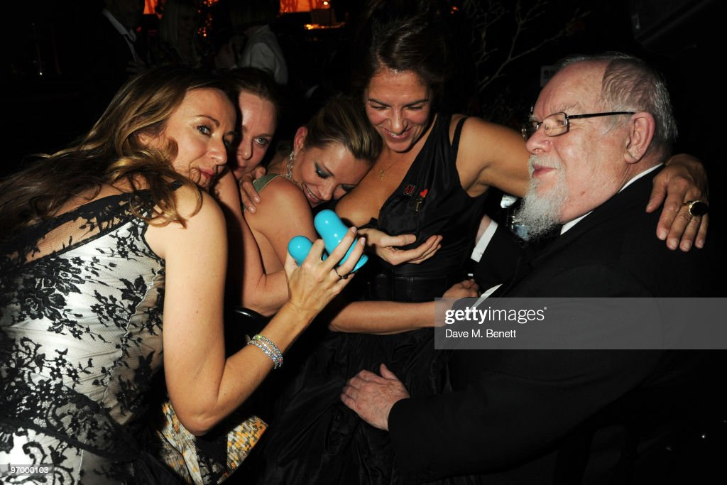 Lucy Yeomans Stella McCartney Kate Moss Tracey Emin and Sir Peter Blake attend the Love Ball London at the Roundhouse on February 23 2010 in London...