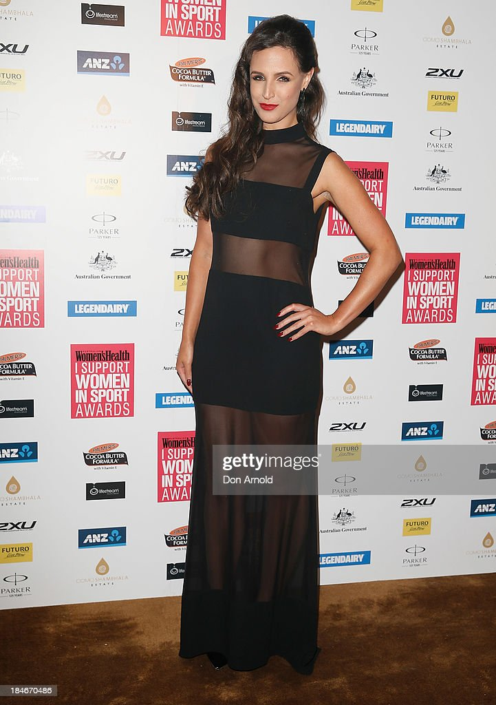 Lucy Zelic arrives at the 'I Support Women In Sport' awards at The Ivy Ballroom on October 15, 2013 in Sydney, Australia.