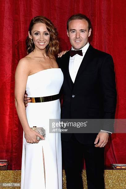 LucyJo Hudson and Alan Halsall attend the British Soap Awards 2016 at Hackney Empire on May 28 2016 in London England
