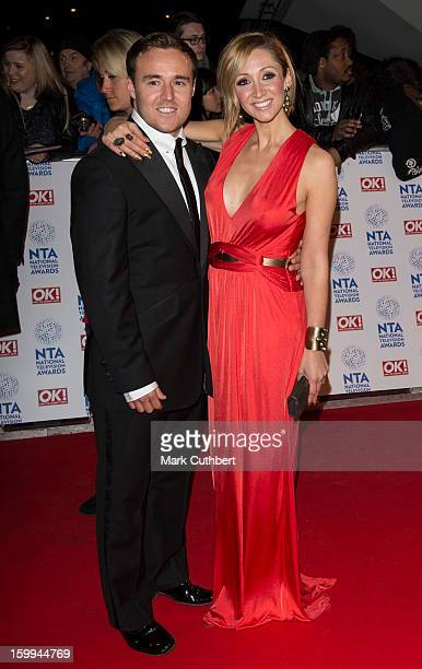 LucyJo Hudson and Alan Halsall attend the National Television Awards at 02 Arena on January 23 2013 in London England