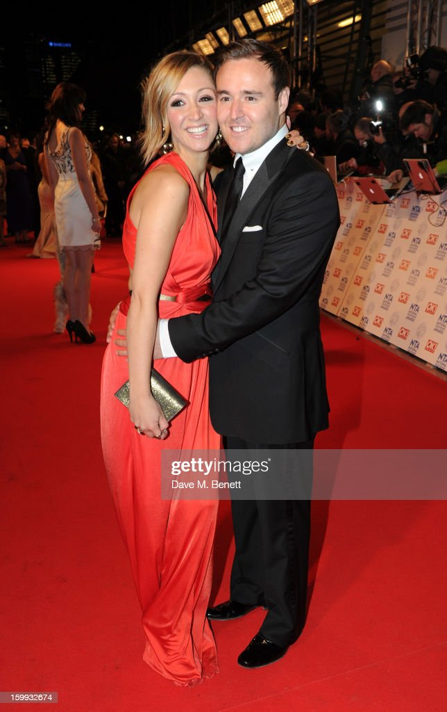 Lucy-Jo Hudson and Alan Halsall attend the the National Television Awards at 02 Arena on January 23, 2013 in London, England.