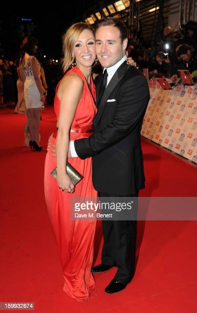 LucyJo Hudson and Alan Halsall attend the the National Television Awards at 02 Arena on January 23 2013 in London England