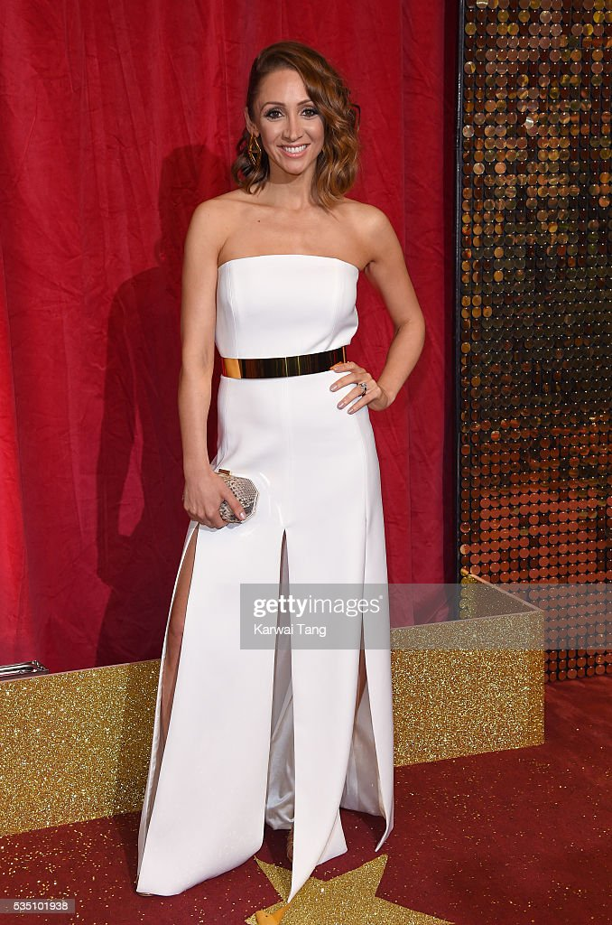 Lucy-Jo Hudson arrives for the British Soap Awards 2016 at the Hackney Town Hall Assembly Rooms on May 28, 2016 in London, England.