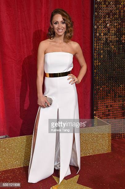 LucyJo Hudson arrives for the British Soap Awards 2016 at the Hackney Town Hall Assembly Rooms on May 28 2016 in London England