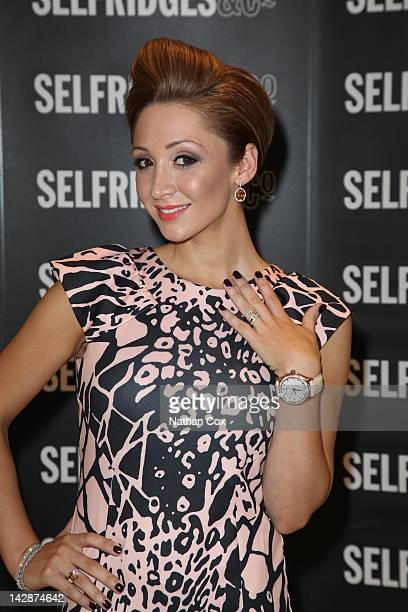 LucyJo Hudson serves customers and gives jewellery styling tips at CARAT* in Selfridges Manchester Exchange Square on April 14 2012 in Manchester...