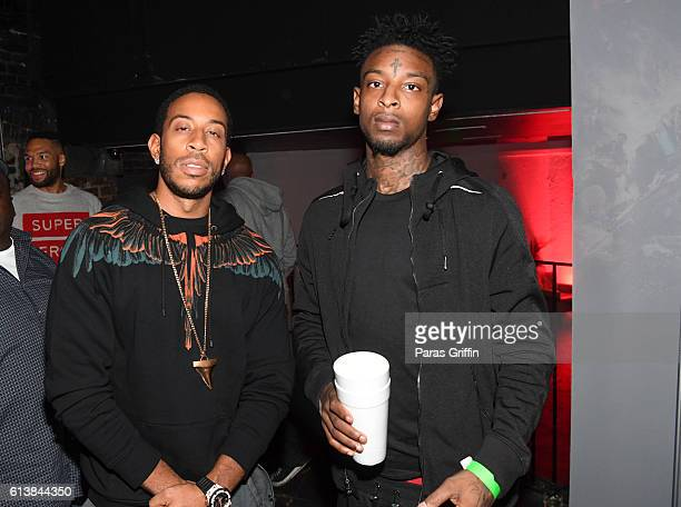 Ludacris and 21 Savage attend Xbox And Gears Of War 4 launch event at Studio No 7 on October 10 2016 in Atlanta Georgia