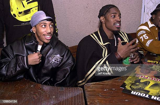 Ludacris and Andre Benjamin during Outkast at the Outkast at the Universal Amphitheater at Universal Amphitheater in Los Angeles California United...