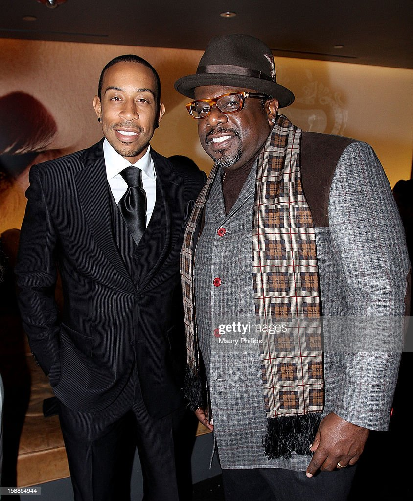 <a gi-track='captionPersonalityLinkClicked' href=/galleries/search?phrase=Ludacris&family=editorial&specificpeople=203034 ng-click='$event.stopPropagation()'>Ludacris</a> and Cedric The Entertainer attend a private dinner for Kevin Hart on December 31, 2012 in Los Angeles, California.