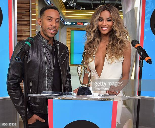 Ludacris and Ciara make the 2016 Billboard Music Awards finalists announcement at GMA Studios on April 11 2016 in New York City