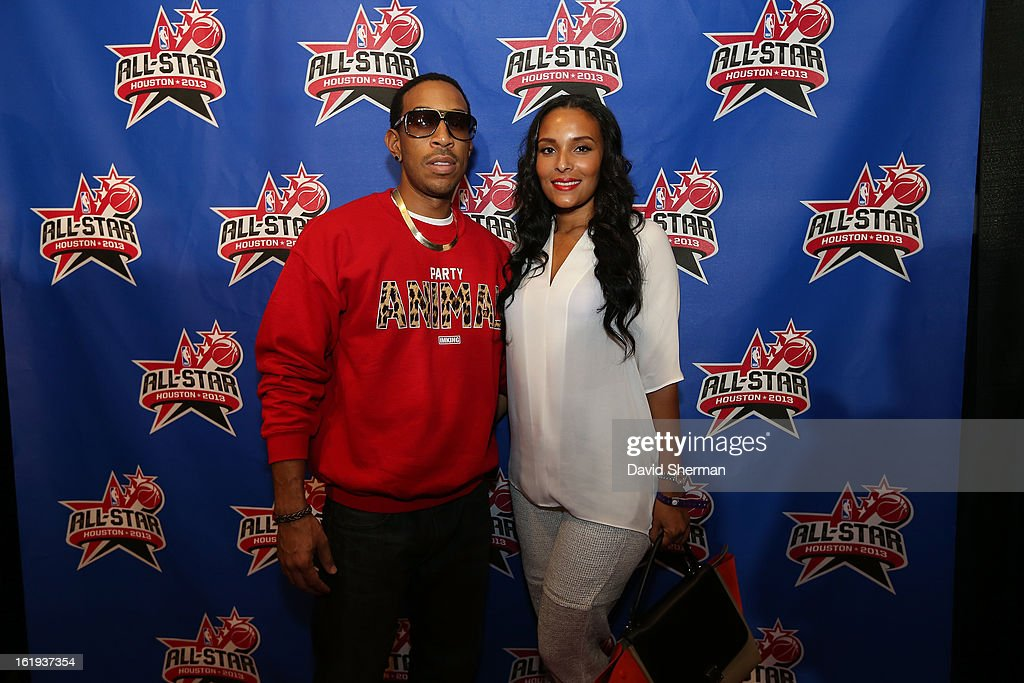 Ludacris and Eudoxie Agnan pose on the All-Star Red Carpet prior to the 2013 NBA All-Star Game presented by Kia Motors on February 17, 2013 at the Toyota Center in Houston, Texas.