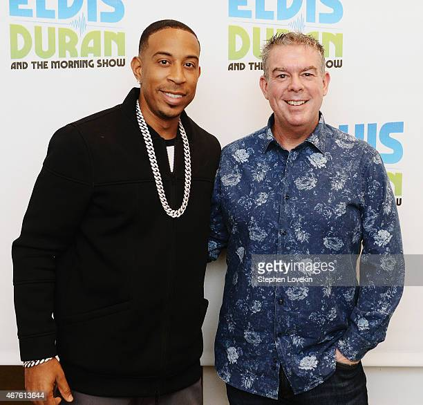 Ludacris and host Elvis Duran visit 'The Elvis Duran Z100 Morning Show' at Z100 Studio on March 26 2015 in New York City