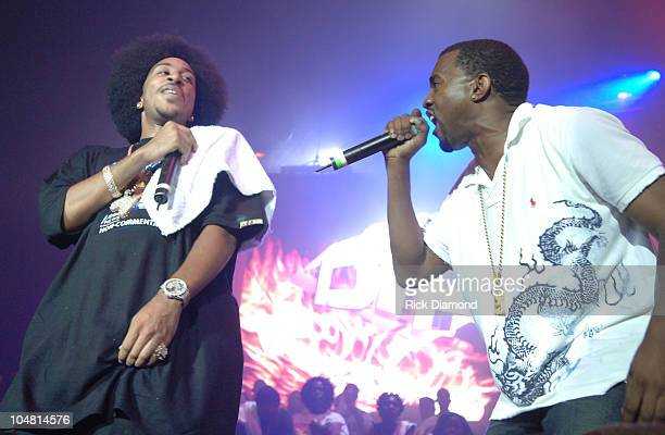 Ludacris and Kanye West during HOT 1079 Birthday Bash 10 at HiFi Buys Amphitheater in Atlanta Georgia United States