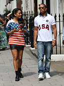 Ludacris and La La Vasquez Anthony seen in Mayfair on August 12 2012 in London England