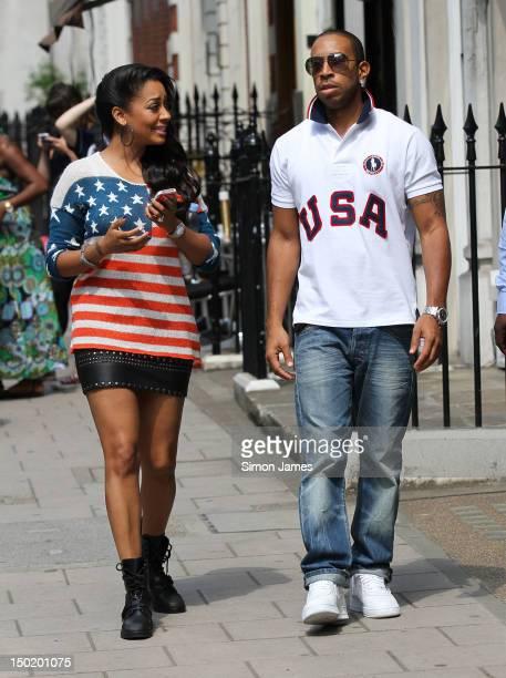 Ludacris and La La Vasquez Anthony seen in Mayfair on August 12 2012 in London England