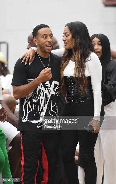 Ludacris and LaLa Anthony at 2017 LudaDay Celebrity Basketball Game at Morehouse College Forbes Arena on September 3 2017 in Atlanta Georgia