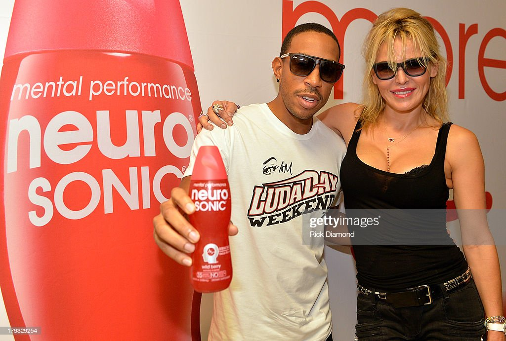 Ludacris and Neuro Sonic Chairperson, CEO and Founder Diana Jenkins, during Neuro Drinks At LudaDay Weekend Celebrity Basketball Game at GSU Sports Arena on September 1, 2013 in Atlanta, Georgia.