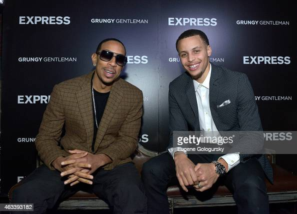 Ludacris and Stephen Curry attend the EXPRESS Launch Party For Menswear Brand Ambassador Stephen Curry on February 13 2015 in New York City