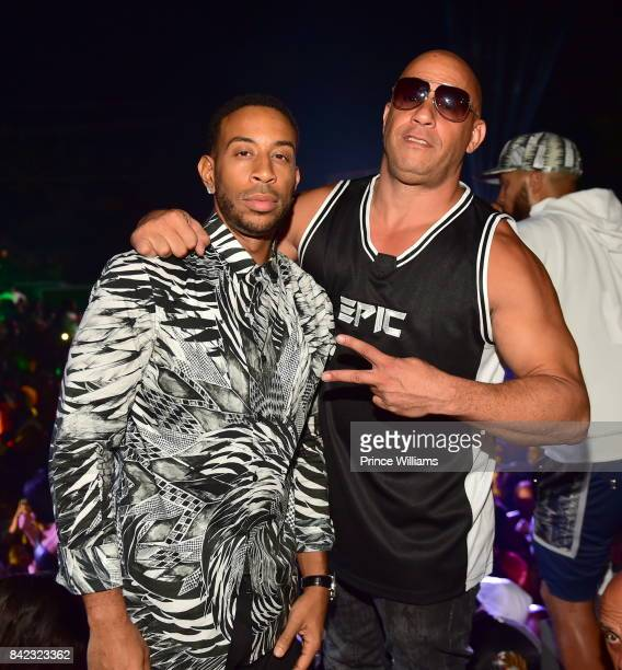 Ludacris and Vin Diesel attend Luda birthday celebration at Compound on September 3 2017 in Atlanta Georgia