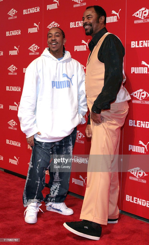 Ludacris and Walt 'Clyde' Frazier during PUMA and Blender Magazine Present Ludacris and Walt 'Clyde' Frazier to Launch 'PUMA Suede' February 18 2006...