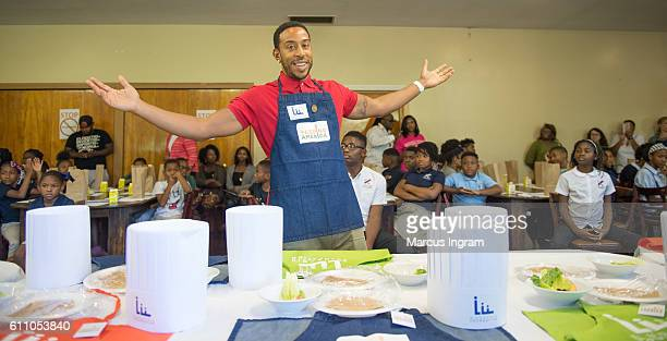 Ludacris attends his foundation to team up with Feeding America and the Atlanta Community Food Bank for Hunger Action Month at CarrieSteelePitts Home...