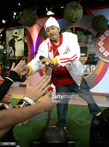 Ludacris during Gwen Stefani and Ludacris Visit MTV's 'TRL' November 12 2004 at MTV Studios Times Square in New York City New York United States